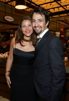 Lin-Manuel Miranda and his wife, Vanessa Nadal, at the Tony Awards gala (Miranda co-wrote the opening number and wrote the closing number for the show! Tony Award, Vanessa Nadal, Lin Manual Miranda, Hamilton Star, Theatre Nerds, Theater, Hamilton Lin Manuel Miranda, Favorite Person, Summer Hairstyles