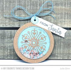 21 Nov 2016 : Kreative Jewels : Stylish Snowflake Tags Our newest Tag Builder Blueprints 6 Die-namics are perfect for creating fun shaker tags to adorn your Christmas gifts. To create this trio of tags I started with Berrylicious and Copper Sparkle card stock. I filled the Shaker Pouches with Aquamarine, Rose Gold, and Sparkling Clear sequins, along with a little glass glitter. I finished off the tags with a sentiment from the Gift Tag Greetings stamp set and a bit of blue twine.