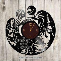 Jack Skellington clock vinyl record The Nightmare Before Christmas