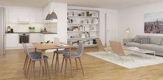 #ethjemfraskanska#øvretastarustå#stueogkjøkken Loft, Bed, Table, Furniture, Home Decor, Modern, Stream Bed, Room Decor, Home Interior Design