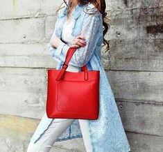 Genuine Leather Messenger Handbag - Shop Now