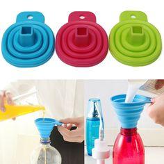 Entonnoirs New Silicone Gel Foldable Collapsible Style Funnel Hopper Kitchen Cozinha Cooking Tools Accessories Gadgets Outdoor dinner Bain-marie *** Cliquez sur le bouton de VISITE pour en savoir plus