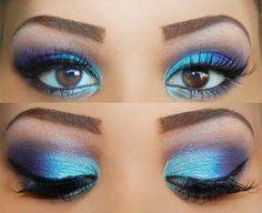 blue purple eyeshadow makeup