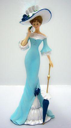 Lady Figurine - Bradford The Proud Promenade Thomas Kinkade.