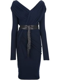 DONNA KARAN - belted wrap dress - This one is amazing for Yin Dramatic!