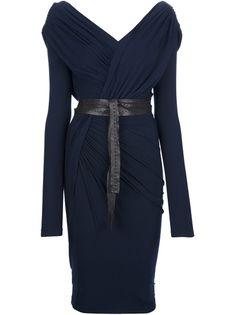 DONNA KARAN - belted wrap dress