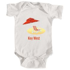 Key West, Florida Beach Chair - Infant Onesie/Bodysuit