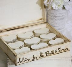I love the idea of advice for bride & groom over just a guest book