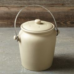 Stoneware Compost Crock #WilliamsSonoma 63 TL.