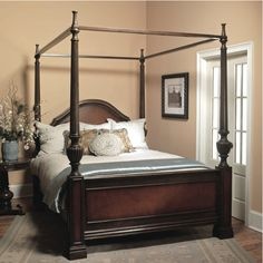 What's Your Favorite Canopy Bed Frames? — The Darien Designs Bed Frame, Bed Frame With Mattress, Wood Beds, Bed, Furniture, Mattress Furniture, Modern Style Bed, Solid Wood Bed, Canopy Bed Frame