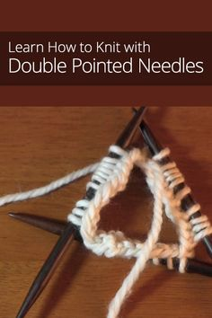 How to Knit with Double Pointed Needles! Join us Tuesday at 6 for our teen knitting class! Knitting Help, How To Start Knitting, Loom Knitting, Knitting Stitches, Hand Knitting, Knitting Patterns, Bamboo Knitting Needles, Circular Needles, Knit Basket