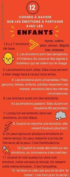12 choses à savoir sur les émotions et à partager avec les enfants