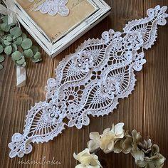Crochet Table Runner Pattern, Crochet Doily Patterns, Crochet Tablecloth, Crochet Motif, Crochet Doilies, Crochet Flowers, Diy Crafts Crochet, Crochet Home, Filet Crochet