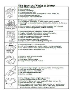 From Kids For Kids: Practical Ideas for the Works of Mercy- Free printable lists and blank sheets for planning ways to live out the Corporal and Spiritual Works of Mercy. Catholic Religious Education, Catholic Kids, Catholic School, Spiritual Words, Spiritual Messages, Corporal Works Of Mercy, Catholic Confirmation, Year Of Mercy, Teaching Religion