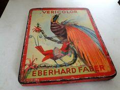 Eberhard Faber VERICOLOR Buntstifte Blechdose Vögel  | Sammeln & Seltenes, Reklame & Werbung, Werbeartikel | eBay!