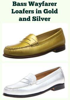 862ca866a12 Hip Silver and Gold Bass Wayfarer Loafers
