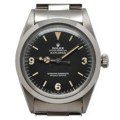 Jewelry & Watches - Rolex -Stainless Steel Explorer Ref 1016 circa 1968
