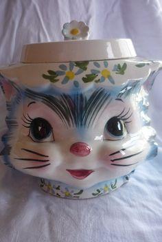 Lefton Miss Priss Cookie Jar by LindsayJanesCottage on Etsy, $83.00