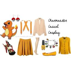 Charmander Casual Cosplay by cupcake-curiosities, via Polyvore