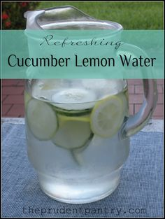 Refreshing Cucumber Lemon Water. A natural and refreshing twist on plain water.