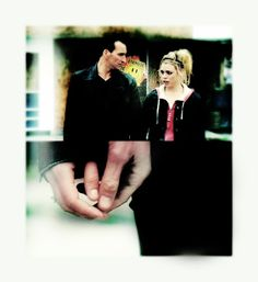"""This is from the episode """"Father's Day.""""  We see the Doctor grabbing Rose's hand to support her. It's like he's returning the favor of showing her that she's not alone- like saying 'there's me' without actually saying it.  This is not the reserved, distant Doctor we would have seen in episode 1 of the series.  This is the Doctor in love- the Doctor that Rose made better."""