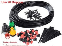 20m Hose  Micro Irrigation Drip System Plant Garden Watering Kit cooling system * Learn more by visiting the image link. #GardenSupplies