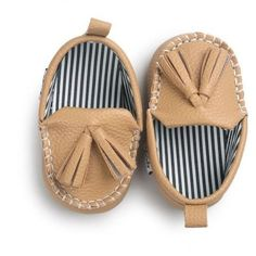 Pre-Walking PU Leather Moccasin Shoes
