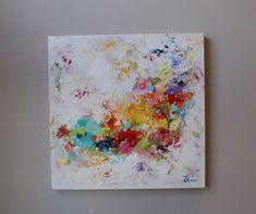 multicolor colores pintura pared decoración por artbyoak1 en Etsy