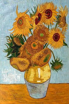 Finding Van Gogh in Arles: A Self-Guided Art Route in the South of France - Jen on a Jet Plane<br> Vincent Van Gogh, Van Gogh Flower Paintings, Sunflower Painting Van Gogh, Paintings Of Sunflowers, Sunflower Paintings, Van Gogh Tapete, Oil Painting On Canvas, Canvas Art, Figure Painting