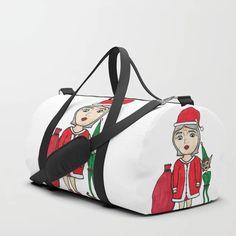 Mrs. Santa Claus Duffle Bag Print Design, Shoulder Strap, Santa, Pairs, Stuff To Buy