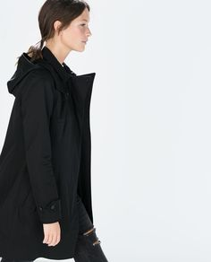 ZARA - WOMAN - HOODED TRENCH COAT