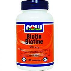 NOW Biotin 500mcg, 120 Capsules
