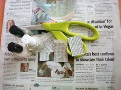 How-to: Newspaper Nail Arts