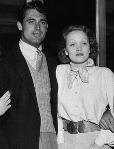 gatabella:  Cary Grant and Marlene Dietrich, 1935