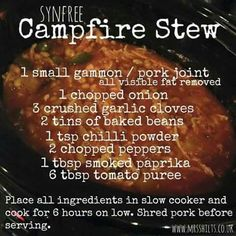 Camp fire stew