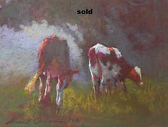 Foggy Cows 9 x 12 sold