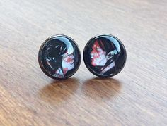 Three Cheers for Sweet Revenge earrings - MCR inspired jewelry - My Chemical Romance My Chemical Romance, Sweet Revenge, Tunnels And Plugs, Of Mice And Men, Panic! At The Disco, Emo Bands, Band Merch, Pin And Patches, Or Rose