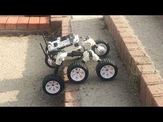Mars rover made on 3d Printer (Street test) - YouTube