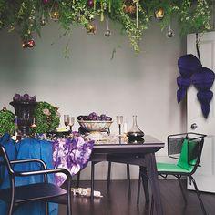 Esszimmer Wohnideen Möbel Dekoration Decoration Living Idea Interiors home dining room - Moderne Esszimmer mit lebenden Pflanze Kronleuchter