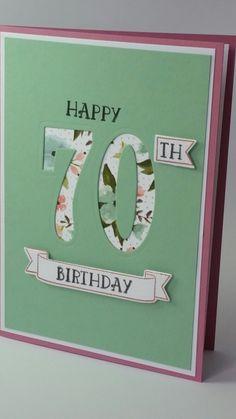 Diy 40th Birthday Card, 60th Birthday Cards For Ladies, Special Birthday Cards, Homemade Birthday Cards, Bday Cards, Birthday Numbers, Happy Birthday Cards, Female Birthday Cards, Anniversary Cards