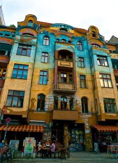 Find the most beautifully, colorful buildings in Kreuzberg, Berlin. Kreuzberg! My favourite!