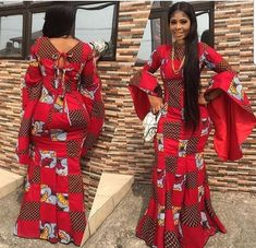 The complete collection of Exotic Ankara Gown Styles for beautiful ladies in Nigeria. These are the ideal ankara gowns African Fashion Designers, Latest African Fashion Dresses, African Dresses For Women, African Print Dresses, African Print Fashion, Africa Fashion, African Attire, African Wear, African Women