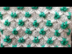 Two colours flowers design# knitting design for all- SH fashion World. Baby Boy Knitting Patterns, Knitting Designs, Crochet Patterns, Two Color Knitting Patterns, Lace Knitting, Knitting Stitches, Types Of Stitches, Knitting Videos, Easy Crochet