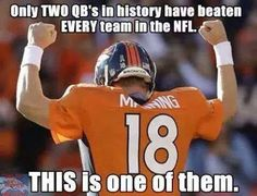 If this truly is the end for Peyton Manning, then I can only leave with the best tribute I've ever found online of Manning in a Broncos uniform. Peyton Manning returning to the field in 2015 is highly unlikely - via Mile High Report Denver Broncos Football, Go Broncos, Broncos Fans, Football Baby, Football Memes, Football Season, Nfl Season, Broncos Memes, Football Stuff