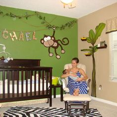 Jungle Baby Room Design Ideas, Pictures, Remodel, and Decor
