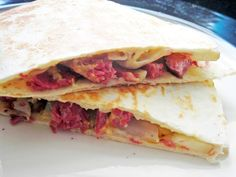 St. Patty's Day goes Tex-Mex with Corned Beef and Cabbage Quesadillas from Coconut & Lime.