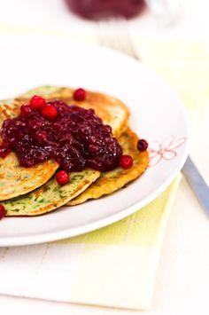 Pinaattiletut Spinach Pancakes, Healthy Recipes, Healthy Food, Veggies, Favorite Recipes, Eat, Breakfast, Main Courses, Health Foods