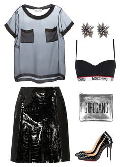 Glam Punk by pupuwang on Polyvore featuring Moschino, Erdem, Christian Louboutin, Sarah Baily and Alexis Bittar