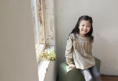 Korea children's No.1 Shopping Mall. EASY & LOVELY STYLE [COOKIE HOUSE] Milk Jam Long Blouse / Size : 7 ~ 17 / Price : 20.10 USD #cute #koreakids #kids #kidsfashion #adorable #COOKIEHOUSE #OOTD #tee #blouse #top #tops #kidstop #kldsblouse #longblouse