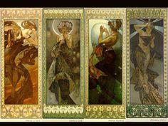 Alphonse Mucha Seasons Series | Alphonse Mucha Wallpaper 1024x768 Alphonse, Mucha, Lithograph
